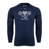 Under Armour Navy Long Sleeve Tech Tee-Just Kick It Soccer Design