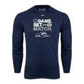 Under Armour Navy Long Sleeve Tech Tee-Game. Set. Match. Tennis Design