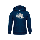 Youth Navy Fleece Hoodie-Cross Country Shoe Design