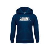 Youth Navy Fleece Hoodie-Field Hockey w/ Player Design