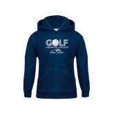 Youth Navy Fleece Hoodie-Golf w/ Golf Ball Design