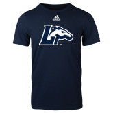 Adidas Navy Logo T Shirt-L Horse