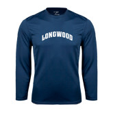 Performance Navy Longsleeve Shirt-Arched Longwood