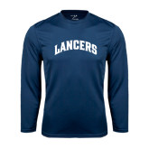 Performance Navy Longsleeve Shirt-Arched Lancers