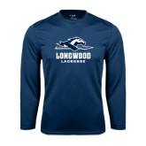 Performance Navy Longsleeve Shirt-Lacrosse