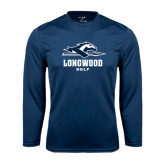 Performance Navy Longsleeve Shirt-Golf