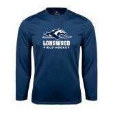 Performance Navy Longsleeve Shirt-Field Hockey
