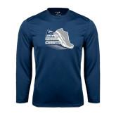 Performance Navy Longsleeve Shirt-Cross Country Shoe Design