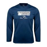 Performance Navy Longsleeve Shirt-Tennis Player Design