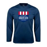 Performance Navy Longsleeve Shirt-US Vice Presidental Debate 2016