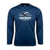 Performance Navy Longsleeve Shirt-Official Logo
