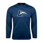 Performance Navy Longsleeve Shirt-L Horse