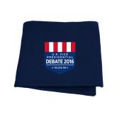 Navy Sweatshirt Blanket-US Vice Presidental Debate 2016