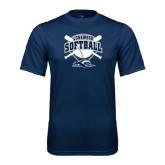 Performance Navy Tee-Softball Bats and Plate Design