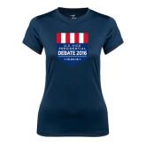 Ladies Syntrel Performance Navy Tee-US Vice Presidental Debate 2016