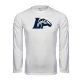 Performance White Longsleeve Shirt-L Horse