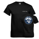 Black T Shirt-Longwood University Flat