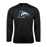 Performance Black Longsleeve Shirt-L Horse