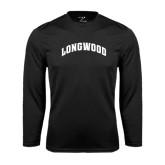 Performance Black Longsleeve Shirt-Arched Longwood