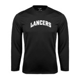 Performance Black Longsleeve Shirt-Arched Lancers