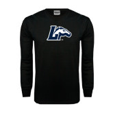 Black Long Sleeve TShirt-L Horse