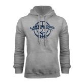 Grey Fleece Hoodie-Arched Basketball Design