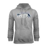 Grey Fleece Hoodie-Field Hockey w/ Player Design