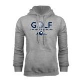 Grey Fleece Hoodie-Golf w/ Golf Ball Design