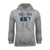 Grey Fleece Hoodie-Tee Off Golf Design