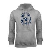 Grey Fleece Hoodie-Soccer Ball Design
