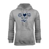 Grey Fleece Hoodie-Just Kick It Soccer Design