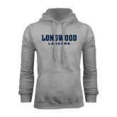 Grey Fleece Hoodie-Longwood Lancers Wordmark