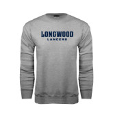 Grey Fleece Crew-Longwood Lancers Wordmark