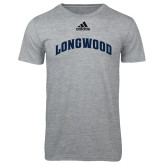 Adidas Sport Grey Logo T Shirt-Arched Longwood