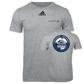 Adidas Sport Grey Logo T Shirt-Longwood University Flat