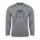 Performance Steel Longsleeve Shirt-Basketball in Ball Design