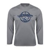Performance Steel Longsleeve Shirt-Arched Basketball Design
