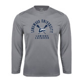 Performance Steel Longsleeve Shirt-Lacrosse Crossed Sticks Design