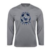 Performance Steel Longsleeve Shirt-Soccer Ball Design