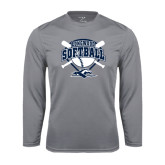 Performance Steel Longsleeve Shirt-Softball Bats and Plate Design