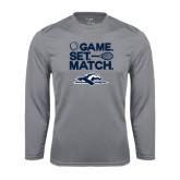 Performance Steel Longsleeve Shirt-Game. Set. Match. Tennis Design