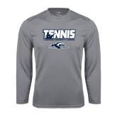 Performance Steel Longsleeve Shirt-Tennis Player Design
