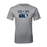 Grey T Shirt-Tee Off Golf Design