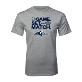 Grey T Shirt-Game. Set. Match. Tennis Design