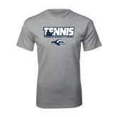 Grey T Shirt-Tennis Player Design