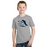 Youth Grey T-Shirt-Cross Country Shoe Design