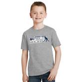 Youth Grey T-Shirt-Field Hockey w/ Player Design