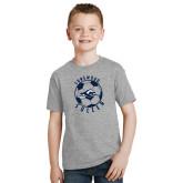 Youth Grey T-Shirt-Soccer Ball Design