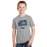 Youth Grey T-Shirt-Game. Set. Match. Tennis Design