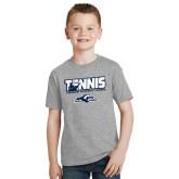 Youth Grey T-Shirt-Tennis Player Design